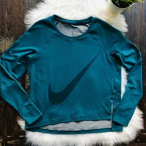 NIKE High Low Crew Neck Pullover Top Sweatshirt L